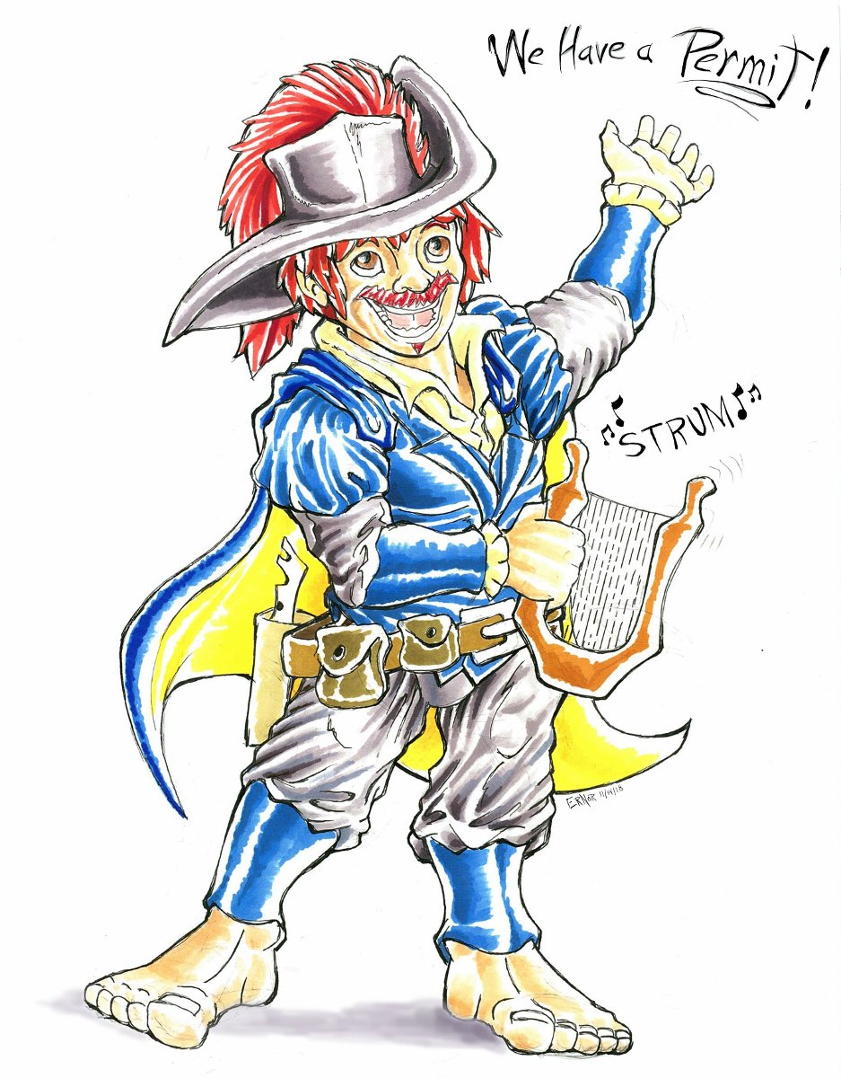 In Aug, @Alkali_Bismuth commissioned portraits of all 5 Dungeons & Draggets characters to mark the end of season 1. Time to show them off! #DnD #TheDraggetShow #DungeonsandDraggets  First is @DustyMoongazer Twitch Tinkerfoot the halfling bard! STRUM! http://www.furaffinity.net/view/31233630/