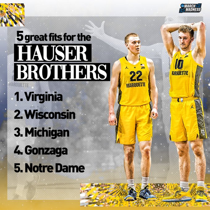 Where do you think the Hauser brothers end up?  👉 https://t.co/uZ9fh0k