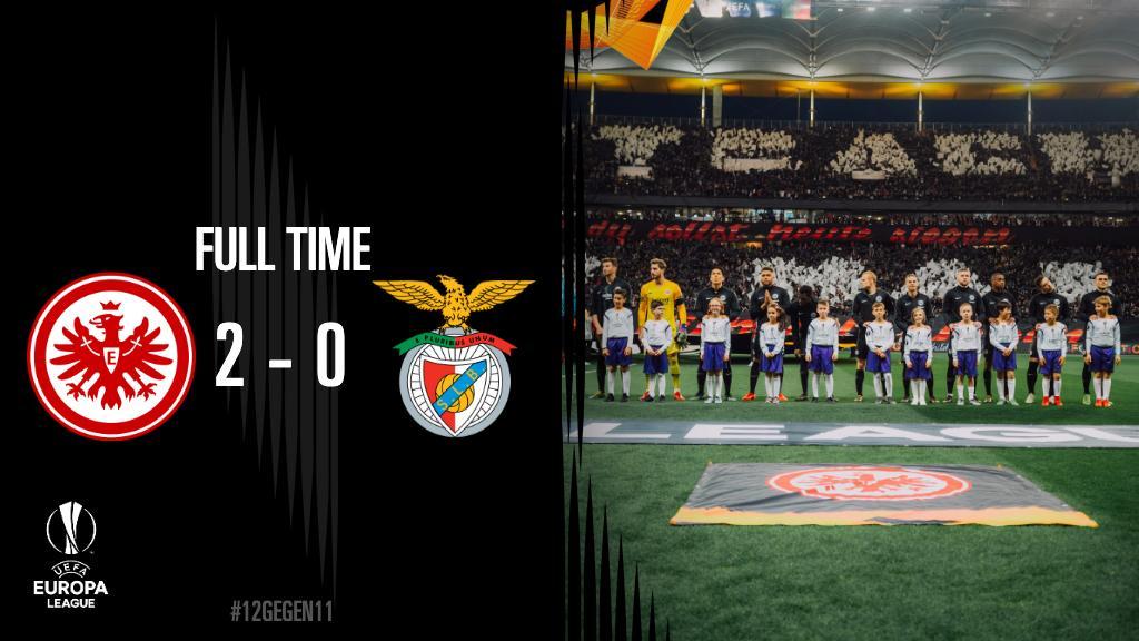 แฟรงค์เฟิร์ตตายยาก!! ดับเบนฟิกา 2-0 ลิ่วอเวย์โกล