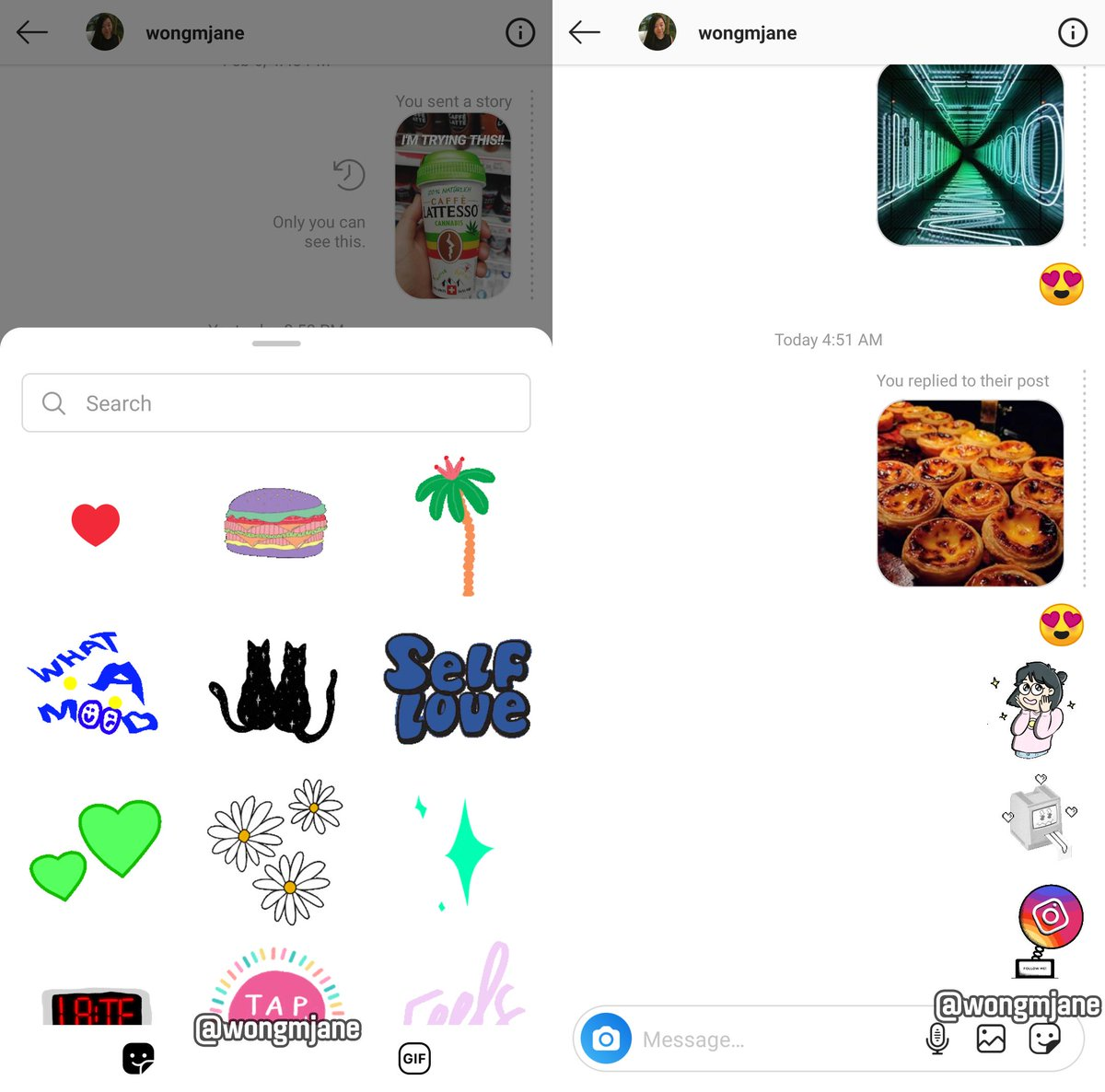 stickers Instagram Direct