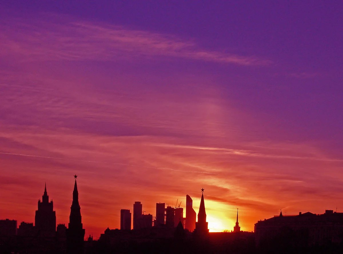 Картинки закаты в городах