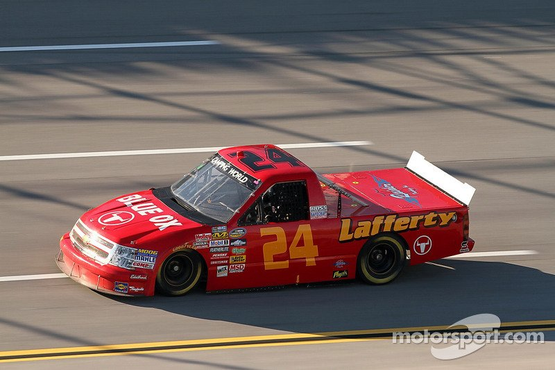 (Jerick Johnson #24 Blue Ox/Lafferty Performance Chevrolet, Ran In The 2010 Mountain Dew 250 Completing 6 Of 95 Laps (Electrical) Finishing 35th, At @TalladegaSuperS)<br>http://pic.twitter.com/mV2UNdMcL4