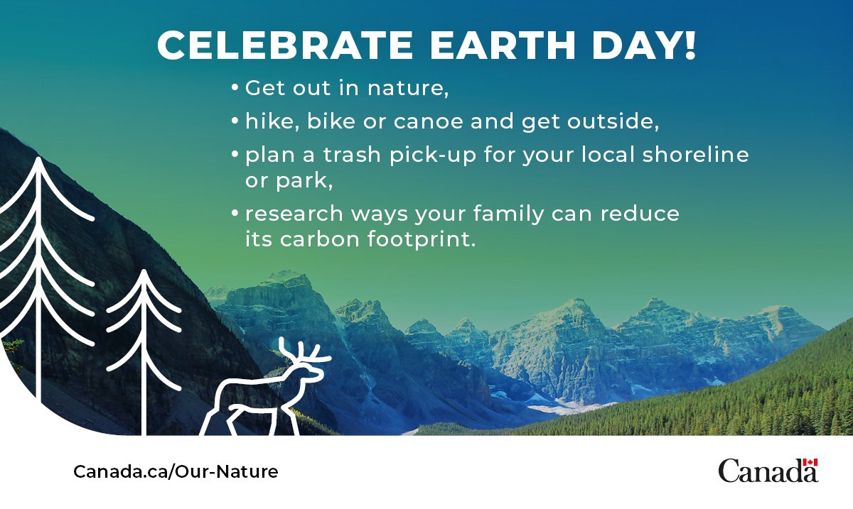 What are your plans for #EarthDay? Check out our list of ways you can spend the day celebrating and protecting #OurNature #NatureSummit