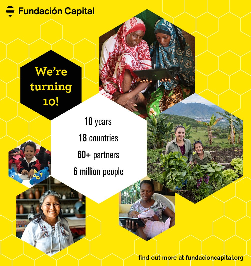 Happy Birthday to us! 10 years ago today, we began our journey of expanding economic citizenship globally and at scale. Join us in remembering some of our top moments along the way at http://fundacioncapital.org! #FundacionCapital10 #amazingjourney #moreworktobedone