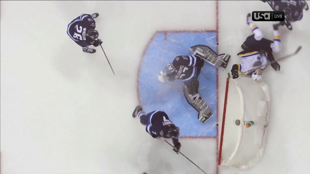 The @StLouisBlues have tied the game with this goal.   Watch the last few minutes of regulation on @USA_Network or stream here: http://bit.ly/2KqS1g2