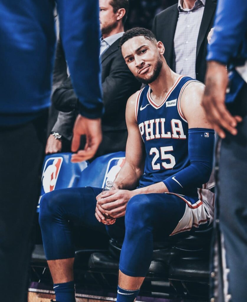Ben Simmons Last 2 Playoff Games: 18 PTS 12 ASTS 10 REBS 8/12 FG 2 steals  Tonight: 31 points 9 assist 4 rebounds  2 steals 3 blocks 11/13 FG 9/11 FT  Young Prince ⚡️