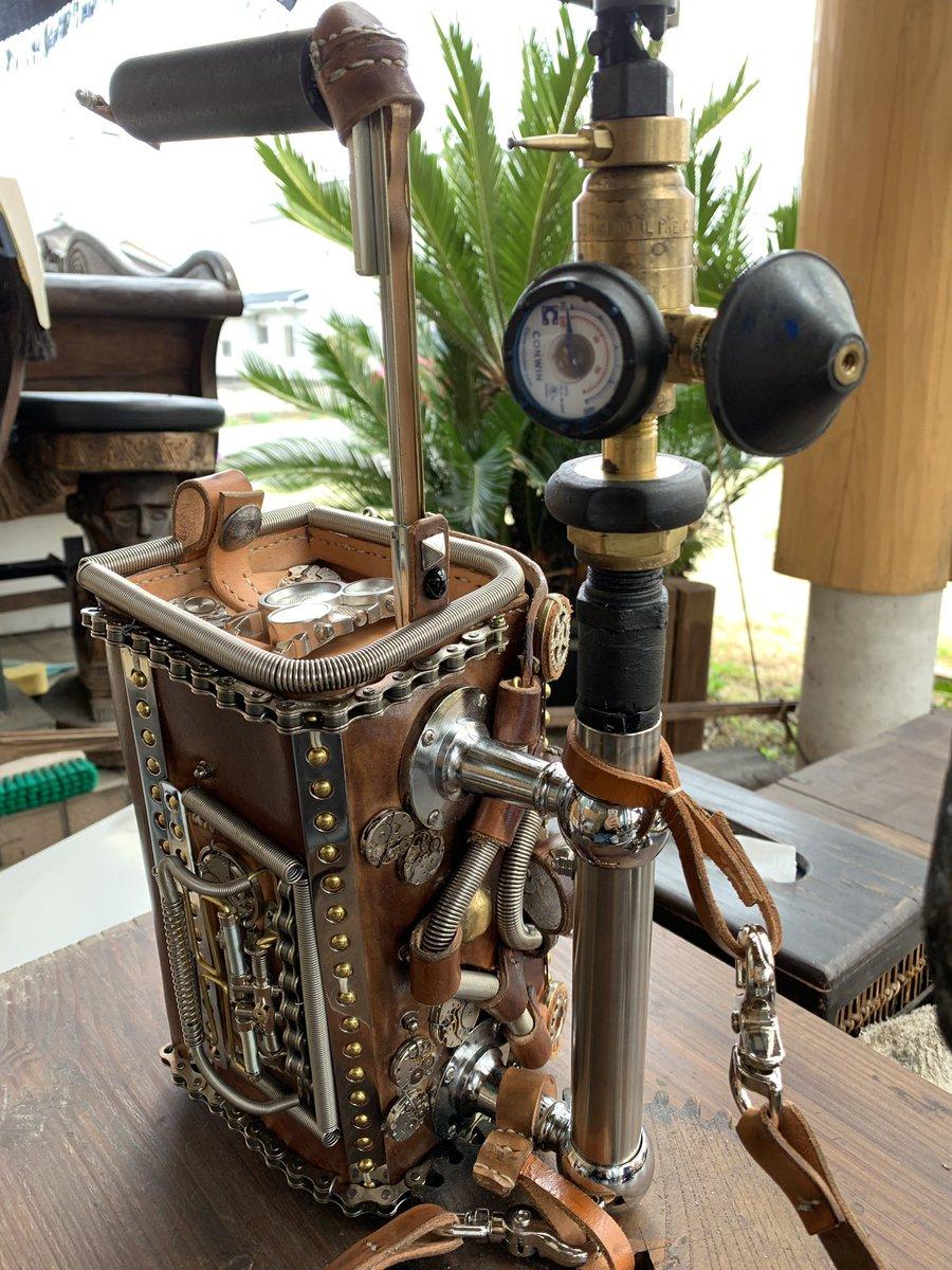 蒸気メーター装備の財布!  #スチームパンク #steampunk