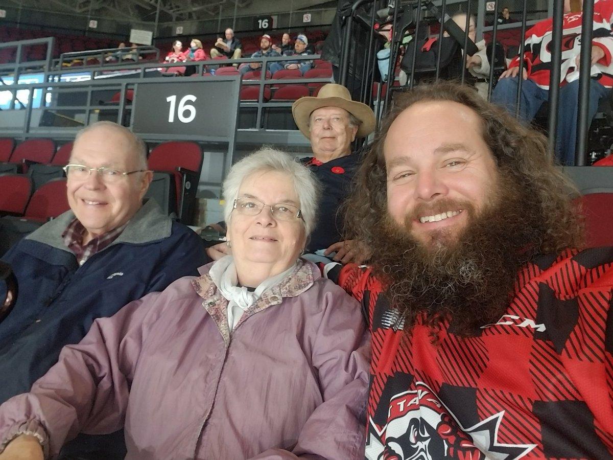 Great night to have some family time!  Go @Ottawa67sHockey !! #NoQuit @TELUS #AllConnected #67s @OHLHockey #beardo #playoffbeard