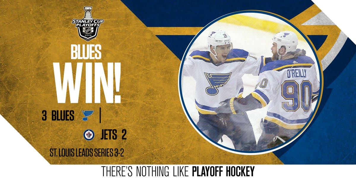The road team prevails for the 5th time this series!   The @StLouisBlues are heading back to The Lou with a 3-2 series lead.