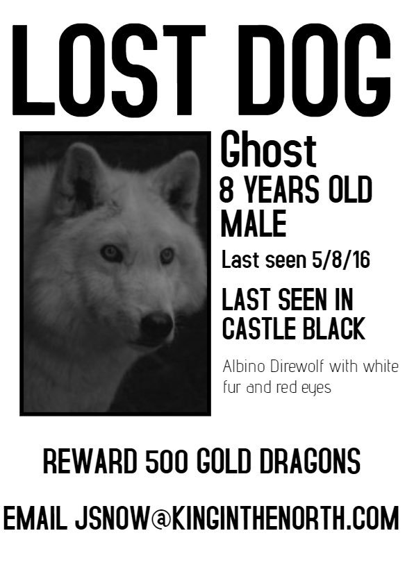 Lost dog, please find budget @GameOfThrones   Via  https://www. reddit.com/r/gameofthrone s/comments/ber5ek/spoilers_have_you_seen_this_wolf/?utm_source=share&amp;utm_medium=ios_app &nbsp; … <br>http://pic.twitter.com/gUlpjtpH9w