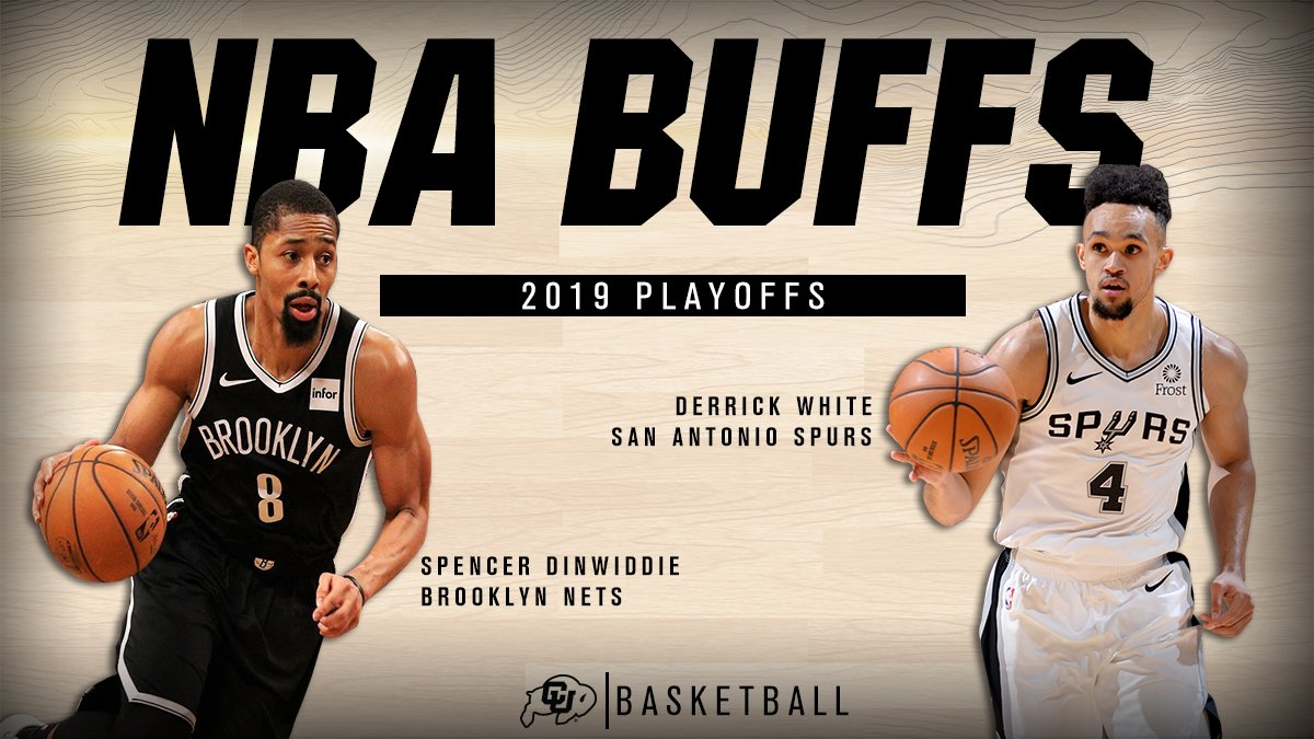 Buffs having big impact on #NBAPlayoffs   @Dwhite921 in 2 games: Averaging 16.5 points Game 3 tonight in San Antonio  @SDinwiddie_25 in 2 games: Averaging 18.5 points Game 3 tonight in Brooklyn  #NBABuffs
