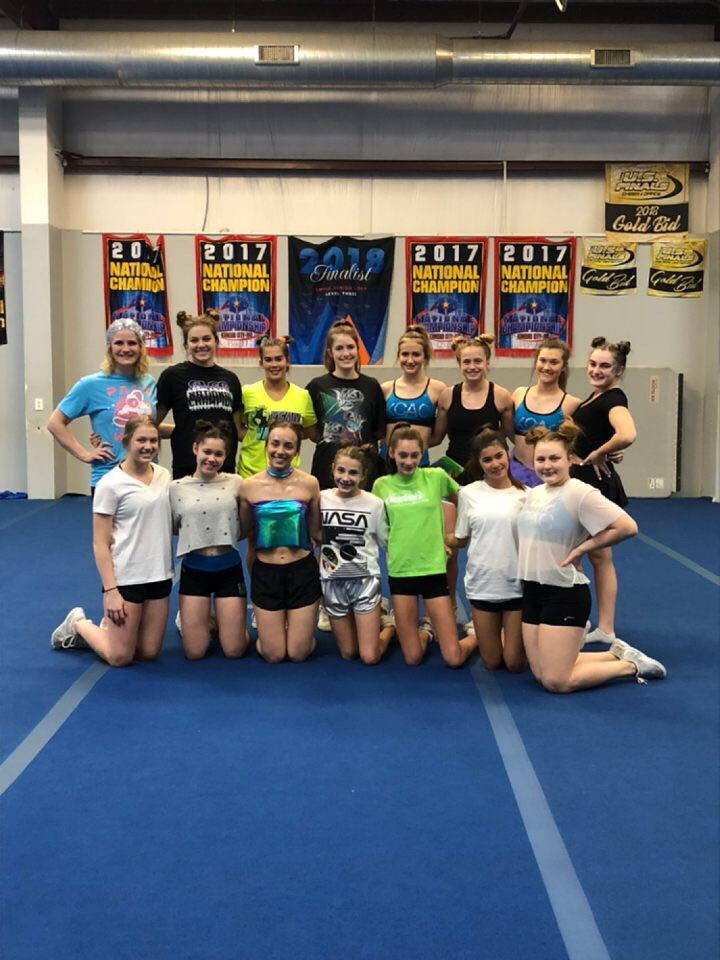 We are so excited to rock a performance (in our new unis ) that's out of this WORLD  ! #worldspractice2 #9daystillworlds #plod<br>http://pic.twitter.com/5fN6KGBvgP