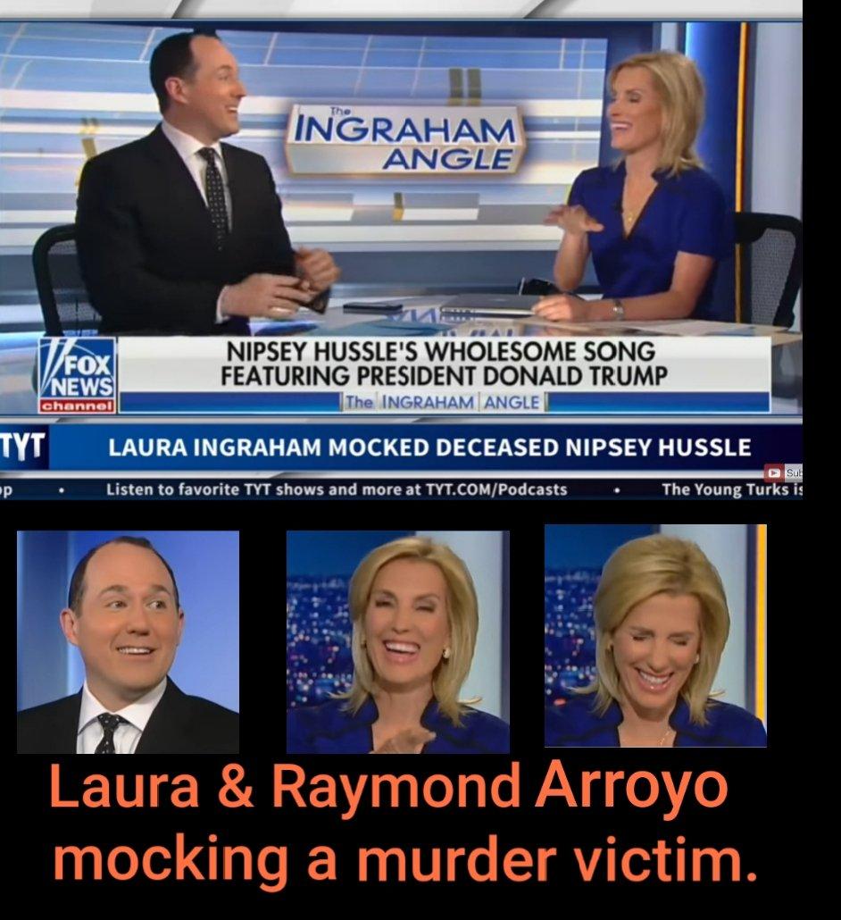 Raymond Arroyo gleefully joins Laura Ingraham in laughing about the recent murder victim. They're both disgusting, consistently the worst on Fox. @RaymondArroyo  @IngrahamAngle