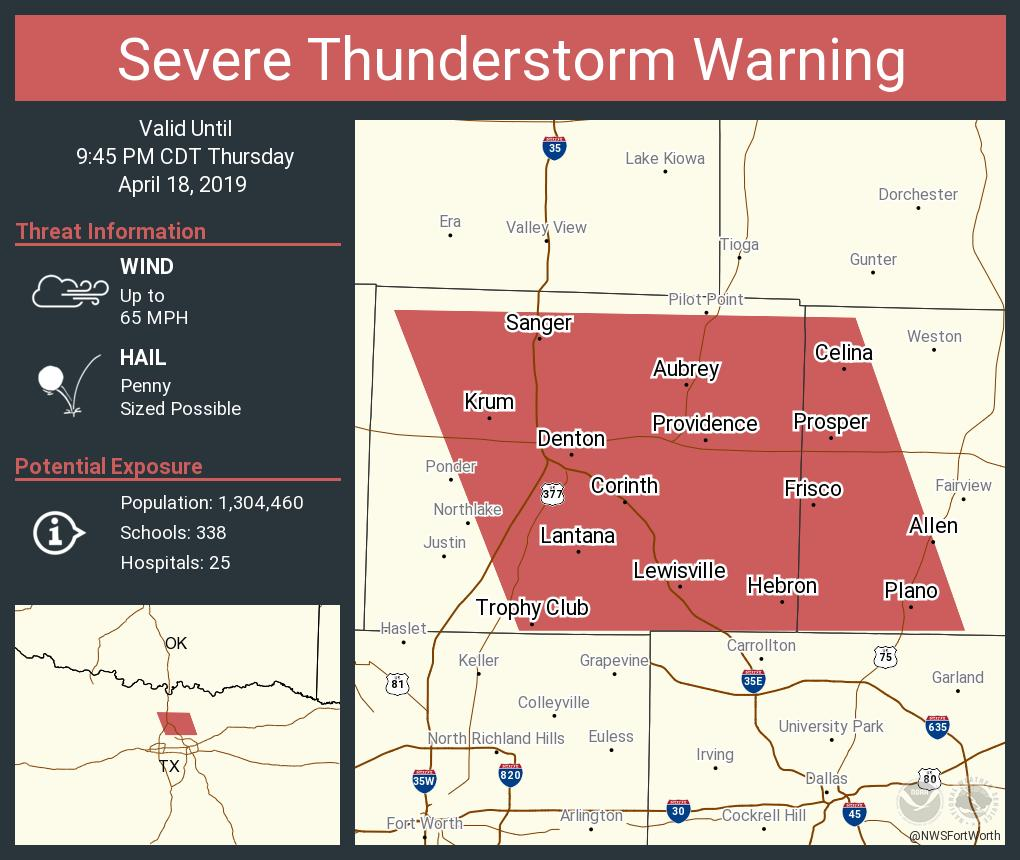 Nws Fort Worth On Twitter Severe Thunderstorm Warning Including