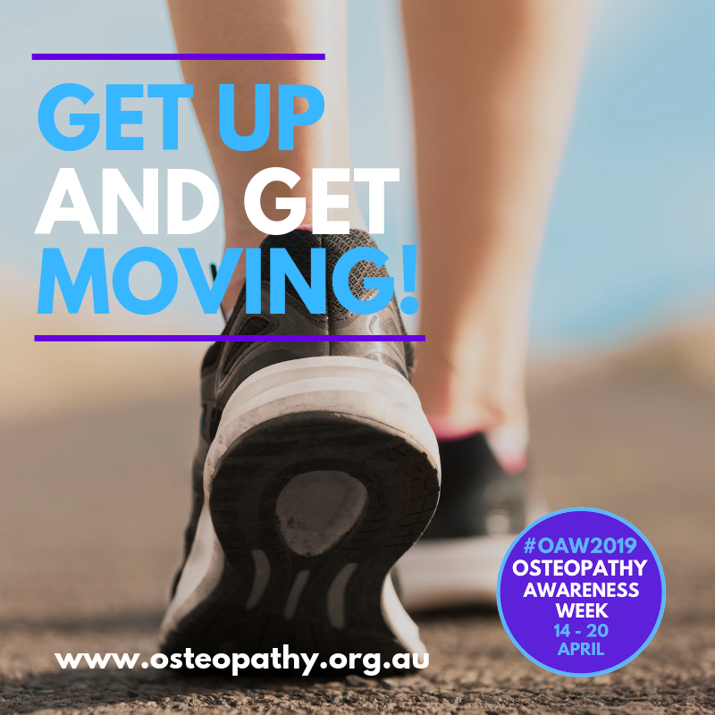 One of our fav#osteotips: For every 30 minutes of being sedentary, get up and move for at least 30 seconds.#GiveOsteoAGo#OAW2019  👉 http://www.osteopathy.org.au/media-/oaw2019
