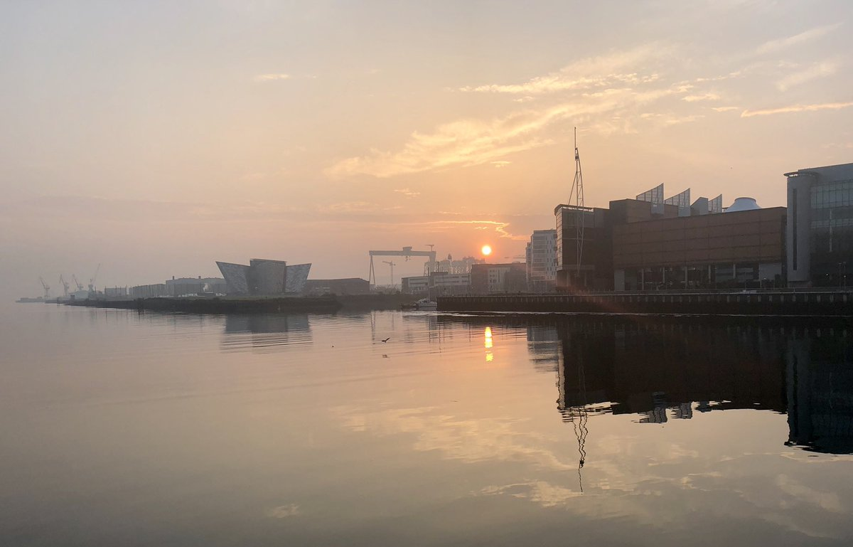 Good Friday sunrise over Belfast: 'Peace is not permanent. It needs to be renewed every morning' #CommonGround
