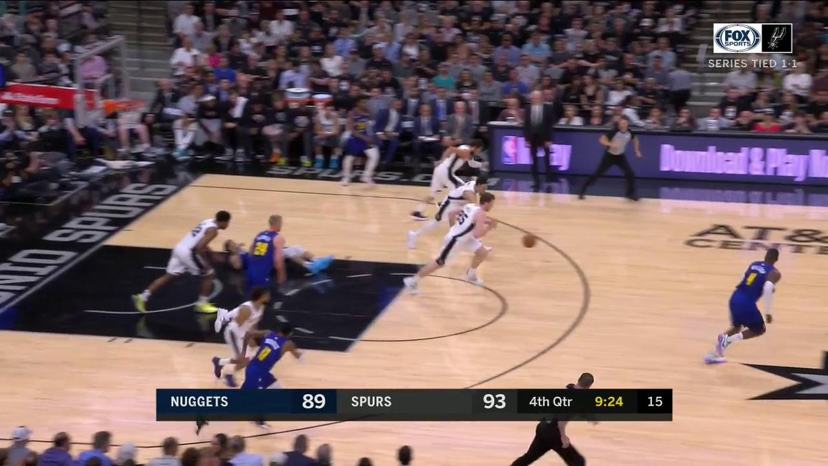 .@Dwhite921 STEAL @marcobelinelli THREEEEEEEEE!  THESE TWO ARE ON FIRE!  @spurs | #GoSpursGo