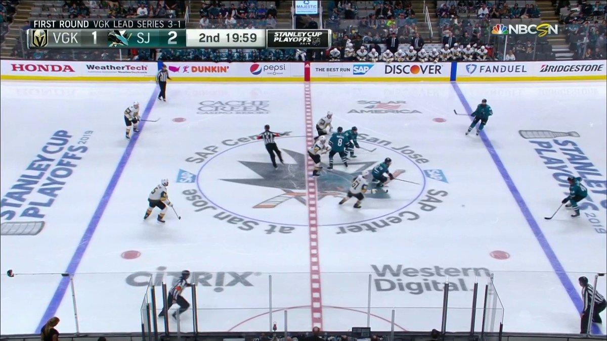 Game time! Period 2 has begun for #VGKvsSJS  Stream here: http://bit.ly/2VCaCXw