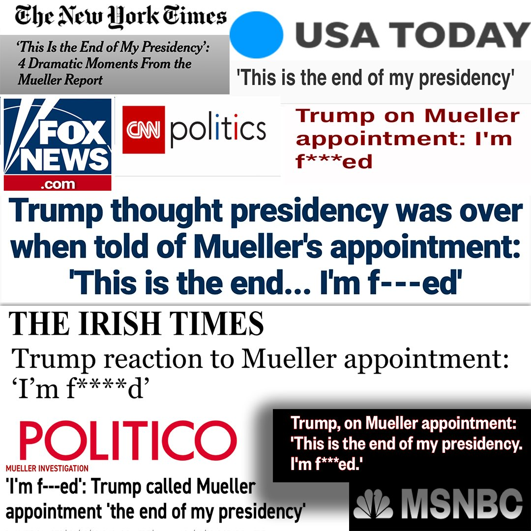 """FULL QUOTE """"Oh my God this is terrible. This is the end of my presidency. I'm f'd...Everyone tells me...one of these independent counsels it ruins your presidency. It takes years and years and I won't be able to do anything. This is the worst thing that ever happened to me."""" -DJT"""