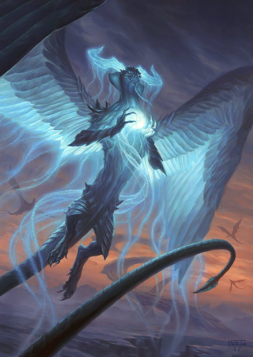 I&#39;ve been waiting to share this one for a while! Here&#39;s the full art for Ugin the Spirit Dragon, which was just previewed from the War of the Spark: Mythic Edition set. #mtg #ugin #dragon<br>http://pic.twitter.com/rGAiauiPC7