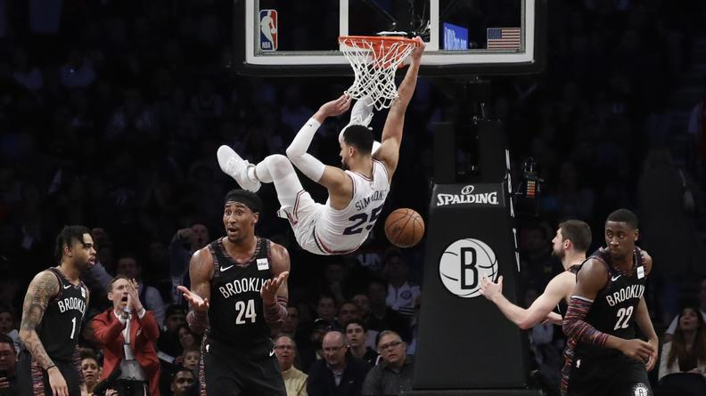 Ben Simmons scores 31 points as @sixers defeat @BrooklynNets without Joel Embiid to take 2-1 series lead. #NBAPlayoffs http://bit.ly/2GguCby