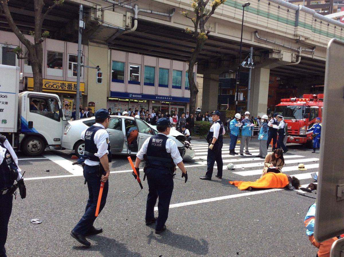 東池袋で飯塚幸三のプリウスが暴走した事故現場の画像