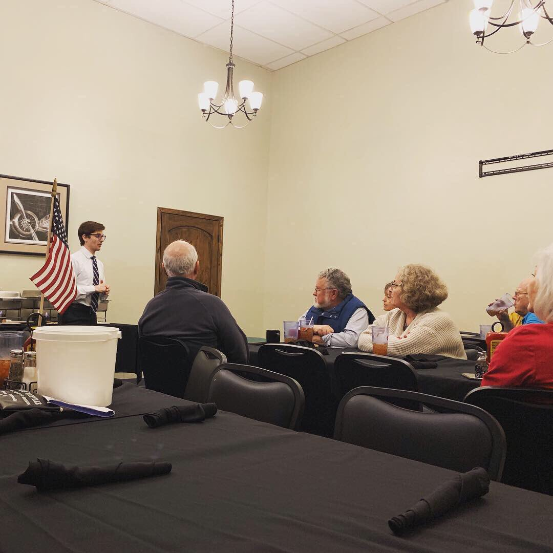 """We visited with folks all over Linn County today, from the live band at the senior lunch to the tour through Marceline to the county seat in Linneus.   """"We don't get statewide candidates here.""""  Those days are over, folks."""