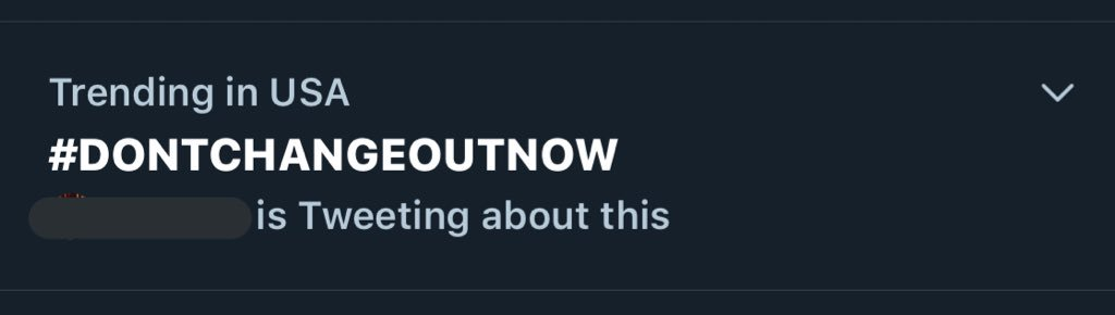 #DontChangeOUTNOW already starting to trend in the US!   Stream @whydontwemusic 's new single 'Don't Change'!  https:// open.spotify.com/track/5GGEJhZ5 xjbU7UhSlipuoq?si=CAlymM0zTJWTQrOBfJGtbw &nbsp; … <br>http://pic.twitter.com/cxXhVXNPBm