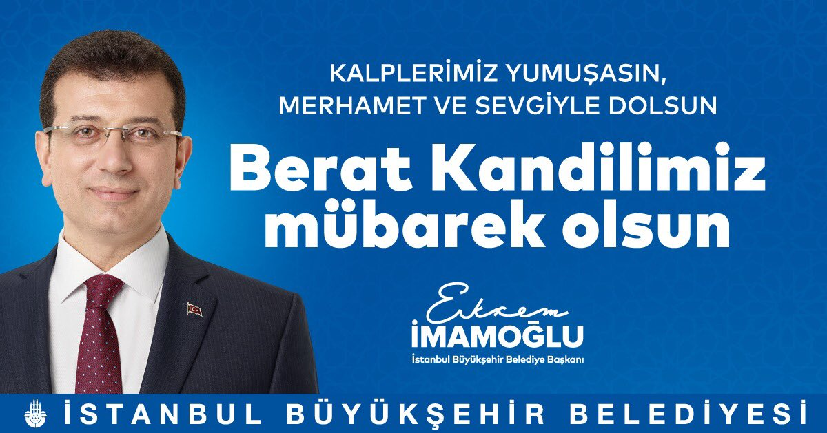 Ekrem Imamoglu's photo on Berat Kandilimiz
