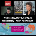 Image for the Tweet beginning: WED 5/1, 6:30 PM #SFMainLibrary-