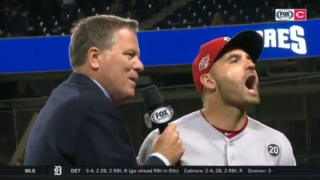 I would like Joey Votto to speak at my wedding, please