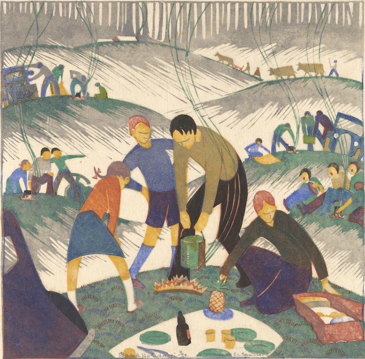 Bank holiday Ethel Spowers (1890 - 1947)