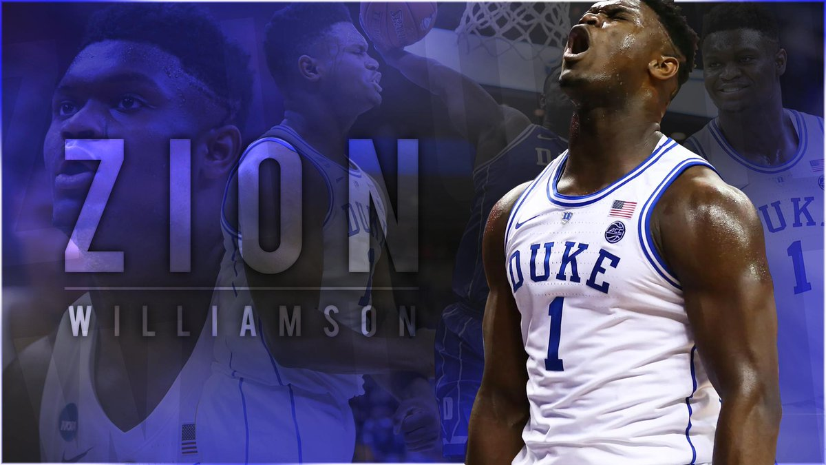 First sports design! Decided to use the man @ZionW32 and it turned out pretty good! Let me know what you think! (Inspired by SesoHQ!) #GFX #GFXDesigner #graphicdesigner #graphicdesign #basketball #Zion #zionwilliamson #design #Duke #dukebluedevils