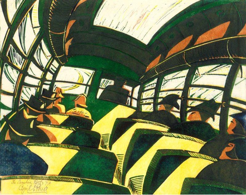 Cyril Edward Power (English #artist, 1872 –  1951)  #linocut prints