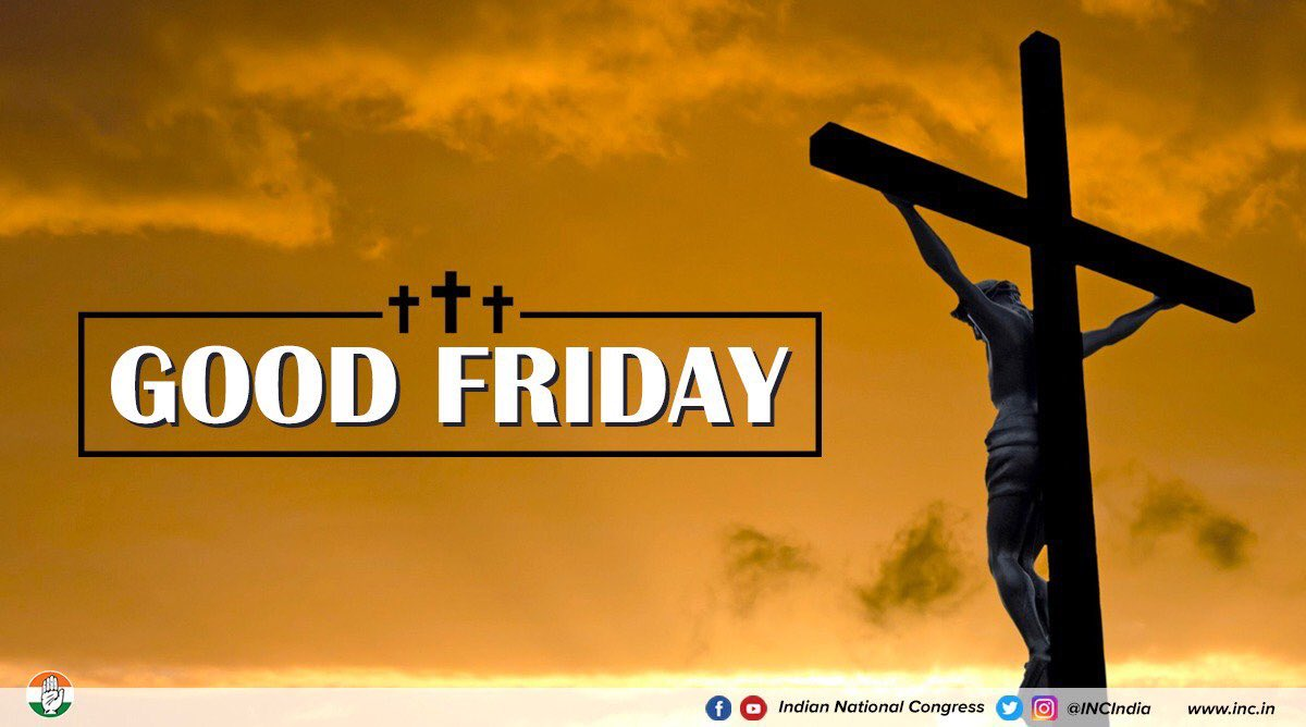 Rahul Gandhi's photo on Good Friday