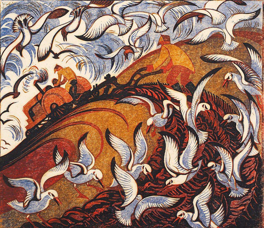 Sybil Andrews (British #artist, 1898 - 1992)  #linocut #prints