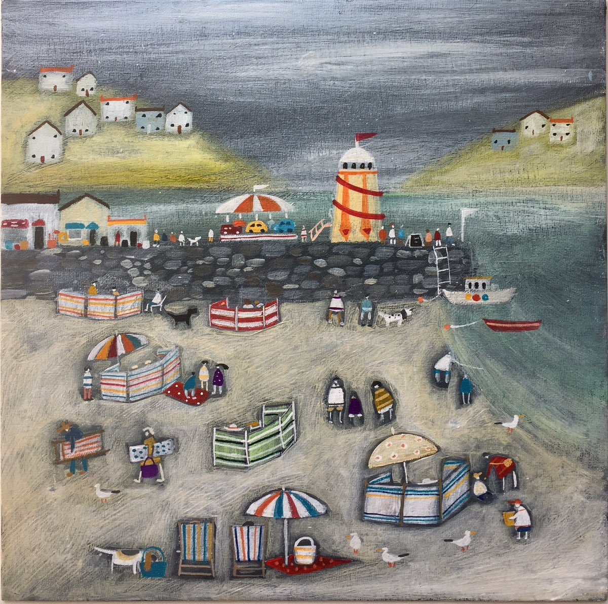 Bank Holiday Weekend by British contemporary artist Louise Rawlings @lourawlings_art