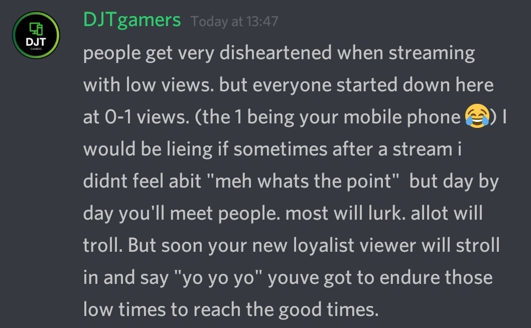 Find a stream with a low view count and make their day. you never know it might make your day too   #SupportSmallStreamers #Twitch #TwitchTV #SupportAllStreamers #westreamers #DJTgamers #TwitchStreamer #FridayFeeling #FridayThoughts @TwitchTVonline @TwitchTVgaming @FearRTs<br>http://pic.twitter.com/ZnvoeOrdtq