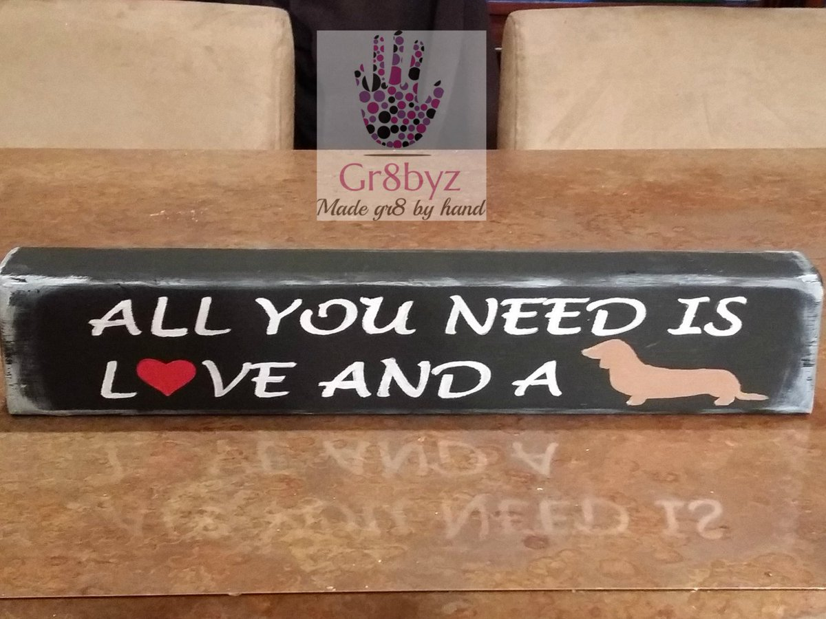 All you need is love and a dog ,desk plaque, wood decor, shelf display, office sign,animal lovers, dog owner, cat lovers, dachshund https://www.etsy.com/gr8byz/listing/272439200/all-you-need-is-love-and-a-dog-desk?utm_source=around.io&utm_medium=twitter&utm_campaign=around.io … #gifts #clutch