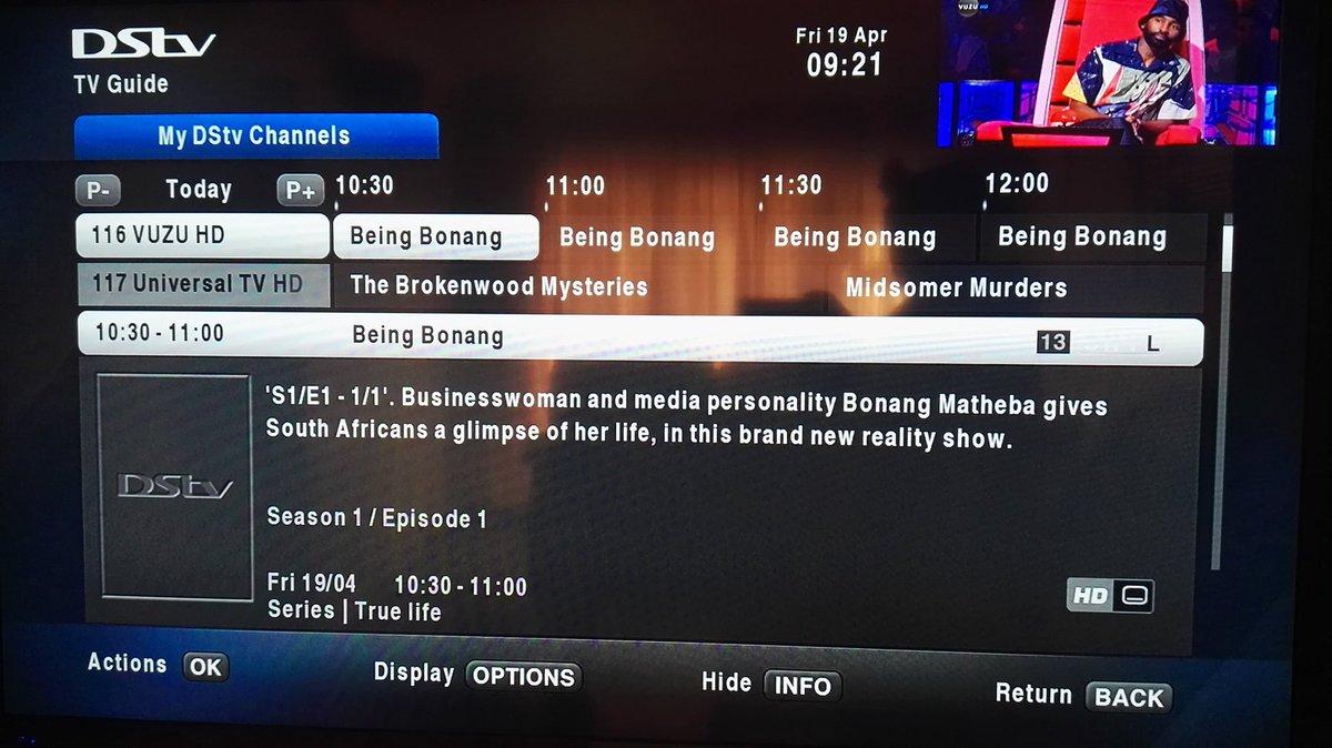 Don&#39;t miss the #BeingBonang marathon on @vuzutv (channel 116) this weekend. Season 1 airing today starting 10:30 and Season 2 tomorrow same time.  @bonang_m<br>http://pic.twitter.com/OOszC1Jrjw