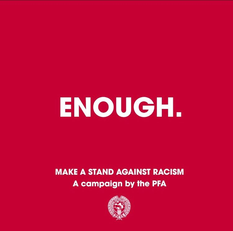 I am sceptical that social media companies, or the racists for that matter, will care. But if this campaign even makes the slightest difference then it can only be a good thing. #Enough