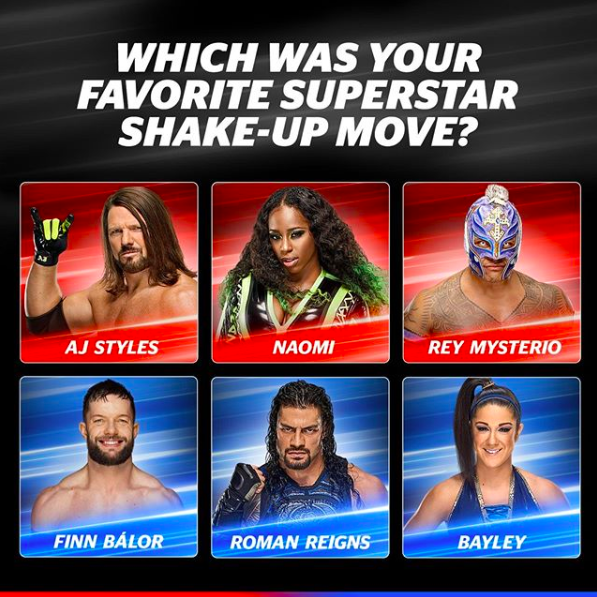 Your favourite move of the #SuperstarShakeUp is_______