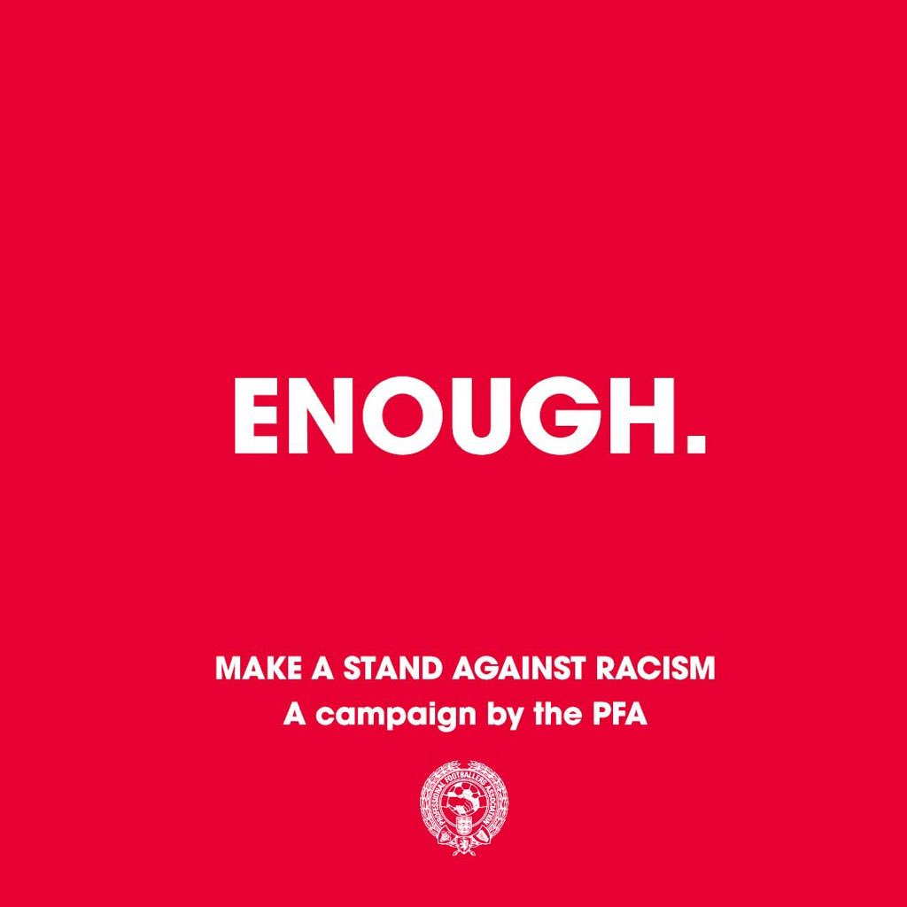 Sky Sports stands with the PFA as they make a stand against racism. #Enough