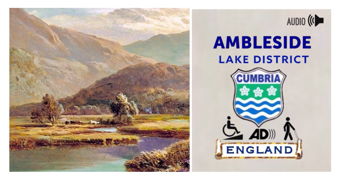 A view of the Cumbrian mountains an artists impression Ambleside Lake District Cumbria England wheelchair access VisuallyImpaired audio