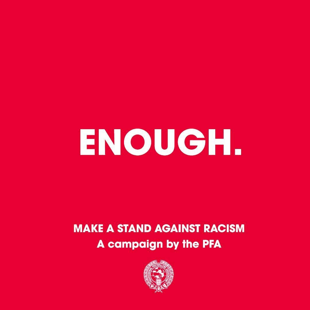 #Enough  We are making a stand against racist abuse.    We recognise that our platforms come with responsibility, and so we are using our voice to stand against racist abuse.    Together, we are calling on social media platforms and footballing bodies to do more!  👊🏻👊🏼👊🏽👊🏾👊🏿