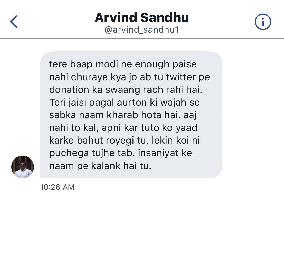 Nupur J Sharma On Twitter Nehruvian Puppy Arvind Sandhu1 Is Angry Nehruvian Puppy Is So Angry That He Abused Me By Messaging Opindia Handle Nehruvian Puppy Is Angry That People Subscribe To Opindia