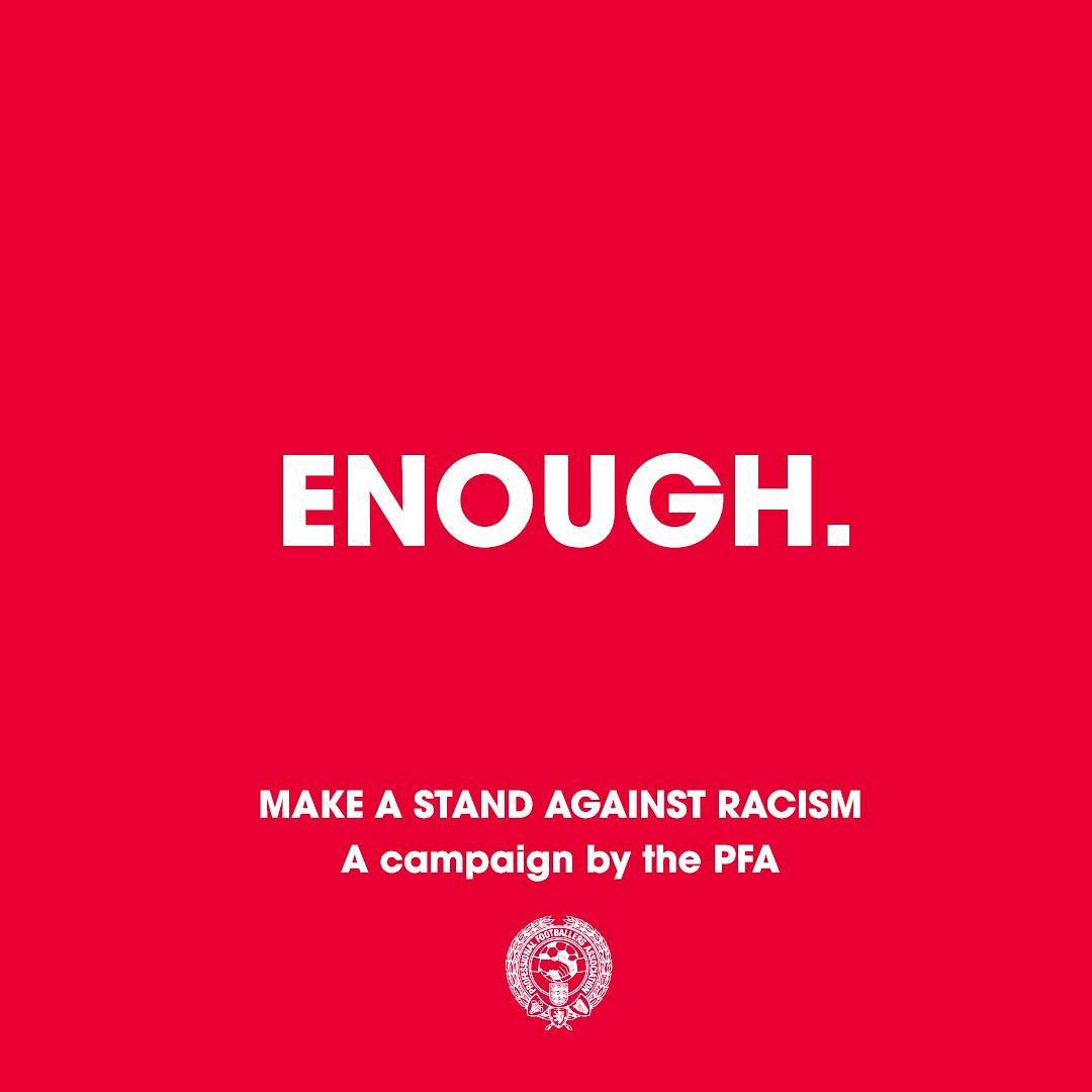 #Enough 🙏🏼🙏🏾  We are making a stand against racist abuse.    We recognise that our platforms come with responsibility, and so we are using our voice to stand against racist abuse.    Together, we are calling on social media platforms and footballing bodies to do more!