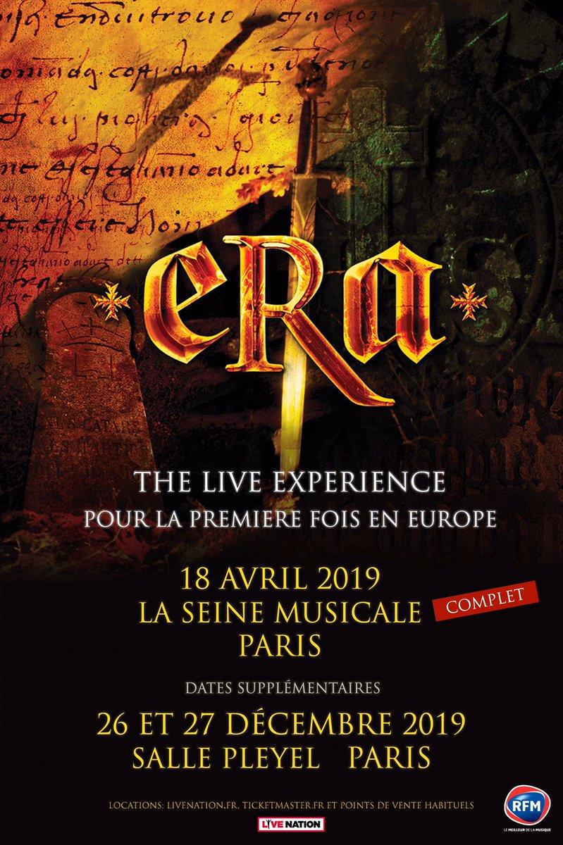 { MISE EN VENTE } @ERAmusicoff  Jeudi 26 et Vendredi 27 décembre 2019 - @sallepleyel - Paris  THE LIVE EXPERIENCE ! BILLETS EN VENTE MAINTENANT SUR:  https://t.co/7H1VqkUUeH Le groupe mythique des ann