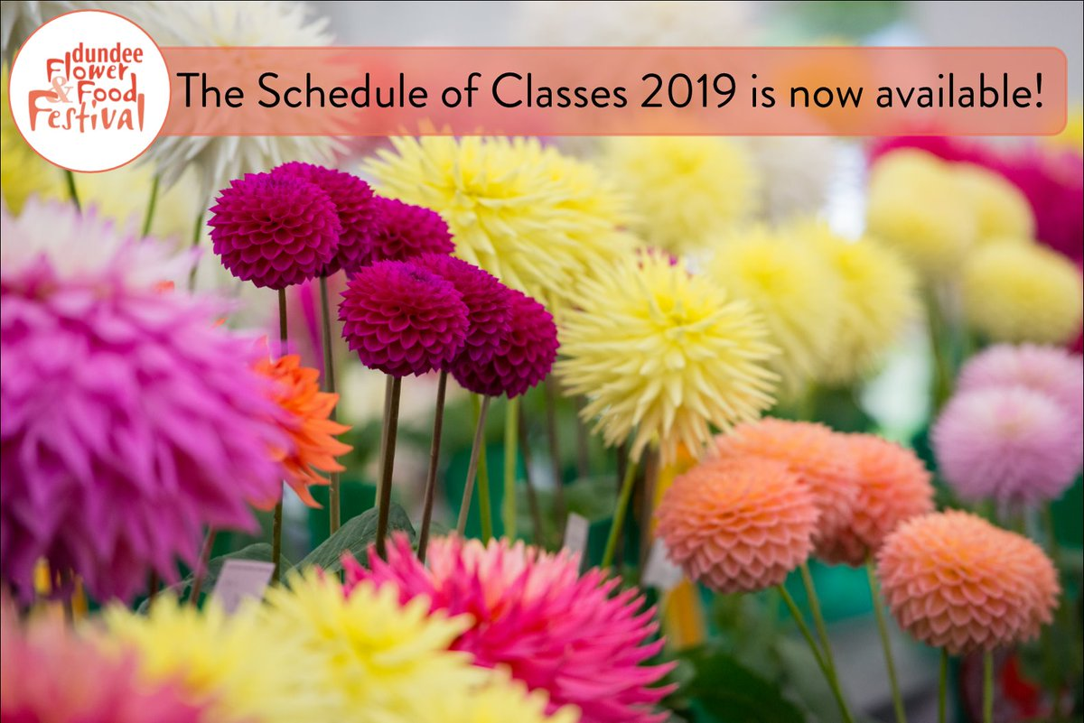 View the Schedule of Classes 2019 at https://www.dundeeflowerandfoodfestival.com/gettingthere ! Hard copies are available in libraries & community centres in #Dundee or by contacting us on flowerandfood.festival@dundeecity.gov.uk. We look forward to seeing your exhibits! #Flowers #Food #crafts #floral #festival
