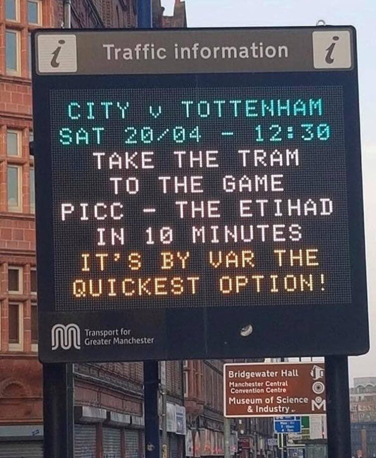 Transport for Greater Manchester are at it again 😂